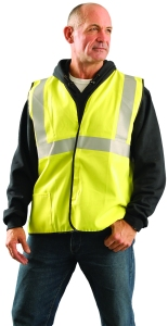 High-Visibility Single-Stripe Reflective Vest
